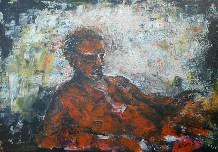 Karl-rötlich-liegend, 0,95 x 1,35, tempera auf leinwand